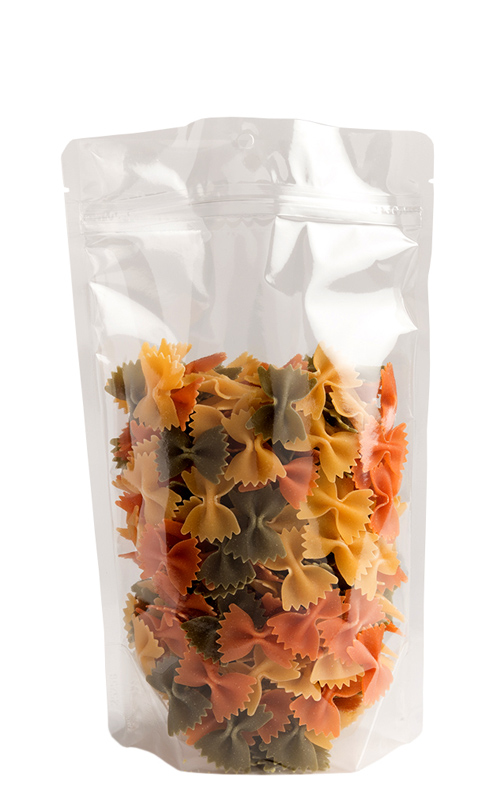 Crystal Clear Snack Pack Poly Stand-Up Pouches (High-Barrier)