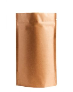 1oz. (28g) Natural Kraft Metallized Stand-Up Zip Pouches