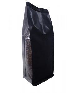 16oz. (450g) Foil Square Bottom Bags with Clear Gusset