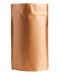 8oz. (225g) Natural Kraft Metallized Stand-Up Zip Pouches