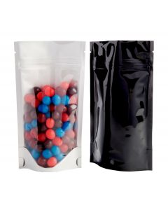 2oz. (60g) Clear/Foil Stand-Up Zip Pouches